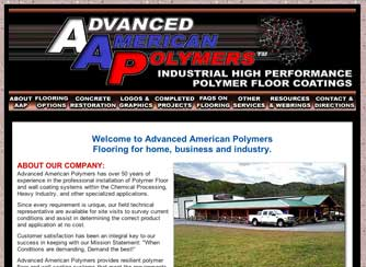 Advanced Polymers Website Design Mills River, NC